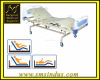 Hospital Bed 4 Section Double Fowler Position Gas Spring Assisted Adjustment Fixed Ht