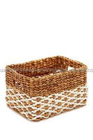 Lovely weaving water hyacinth mini basket made in Vietnam