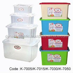 Food grade plastic container for usage as lunch box
