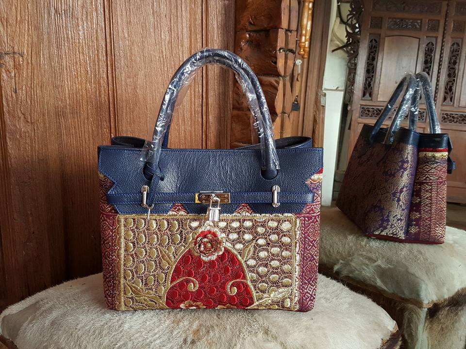 Handbags, Wallets and Leather Songket weaving materials