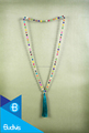 Top Model Bali Long Wooden Tassel Necklaces Layered in Handmade