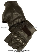 Fingerless Gloves Featuring Hard Knuckles and Gel Padding on Fingers and Palm