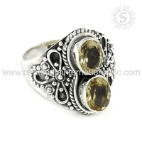 Appealing Citrine 925 Sterling Silver Ring Handmade Silver Jewelry Wholesaler Silver Jewelry