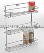Modular Multipurpose Wall Mounted Stainless Steel Hanging Spice Rack