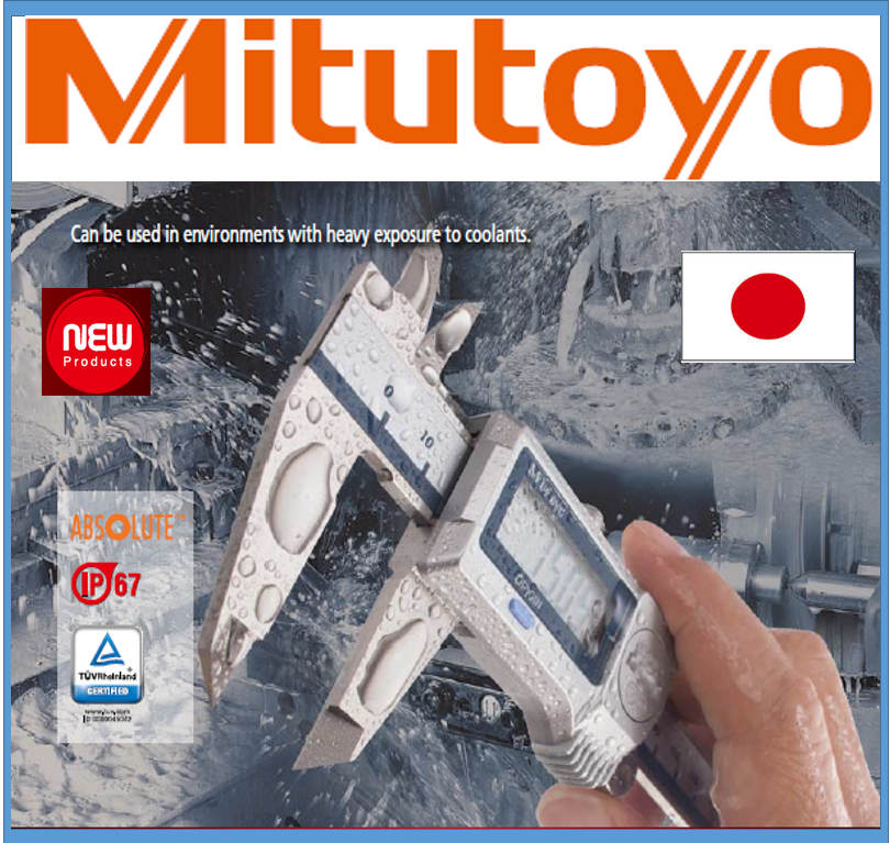 Reliable and Highly-efficient gage Mitutoyo caliper for coolant, water, oil