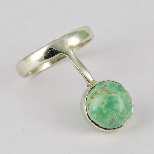 Timeless !! Green Turquoise 925 Sterling Silver Ring Size-7.0 US, 925 Sterling Silver Ring For Beautiful Fingers, Handmade Rings