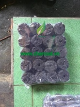 Cylinder coconut shell charcoal for BBQ Grilling with white ash, nice shape and convenience