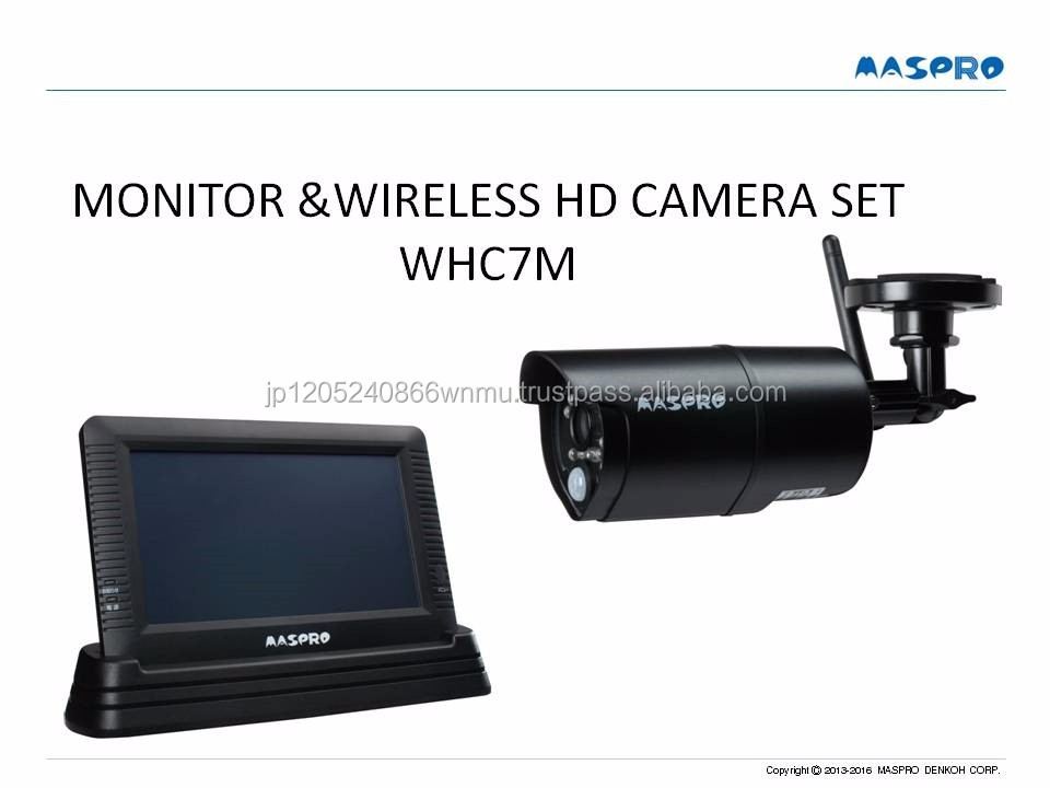 Robust and Hot-selling home security wireless IP camera and LCD monitor for personal use , small lot order available