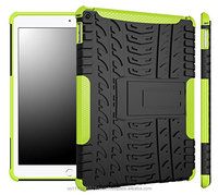 Hybrid D8 Heavy Duty Dual Layer Armor Protective Shockproof Anti-Scratch Rugged Stand Case for iPad Air 2 (green)