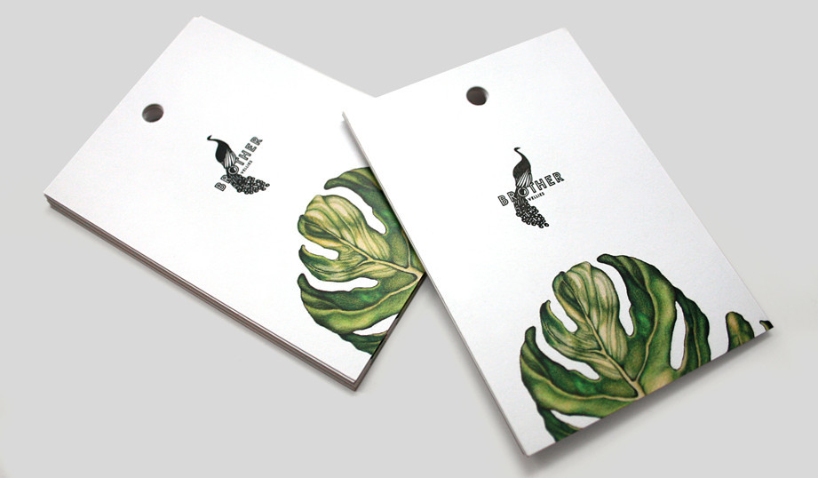 Double Sided Print High Quality Paper Garments Hang Tag