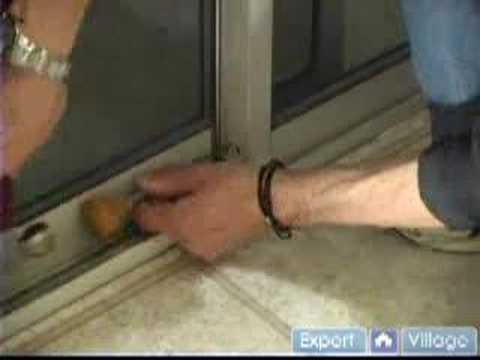 Installing a Sliding Glass Door Lock: Do It Yourself Home Security Tips : Step 3: Installing a Sliding Glass Door Lock