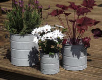 Galvanized Outdoor Planter | Galvanized Zinc Flower Garden Planter