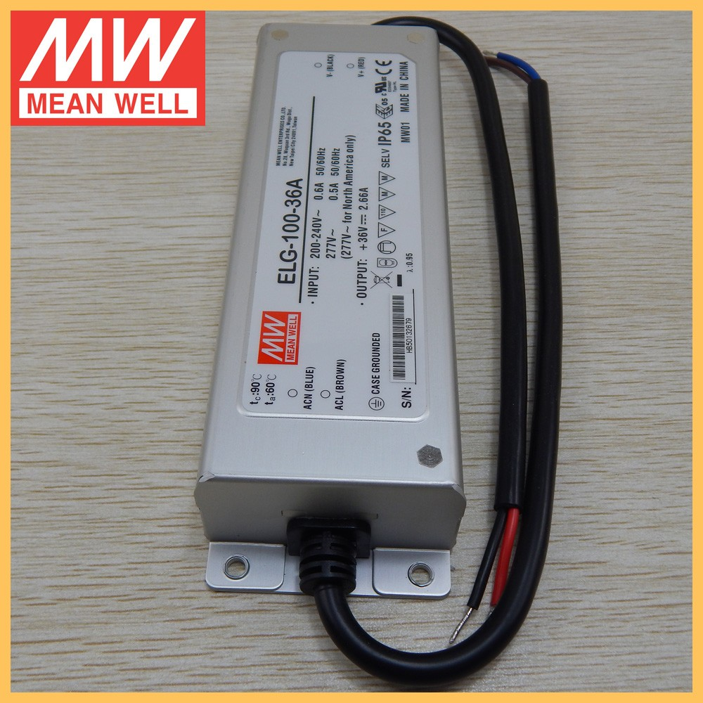 UL approval Original Taiwan Meanwell 100W led driver 36V ELG-100-36A