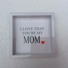 "High quality best selling eco friendly 6 inches"": I love That You're My Mom"" Serving Tray from Viet Nam"