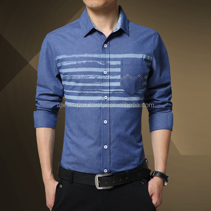 Luxury style-Famous design jeans shirt