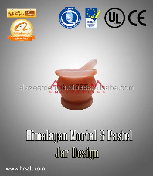 Unique Himalayan Rock Salt Stone Mortar & Marble Pestle