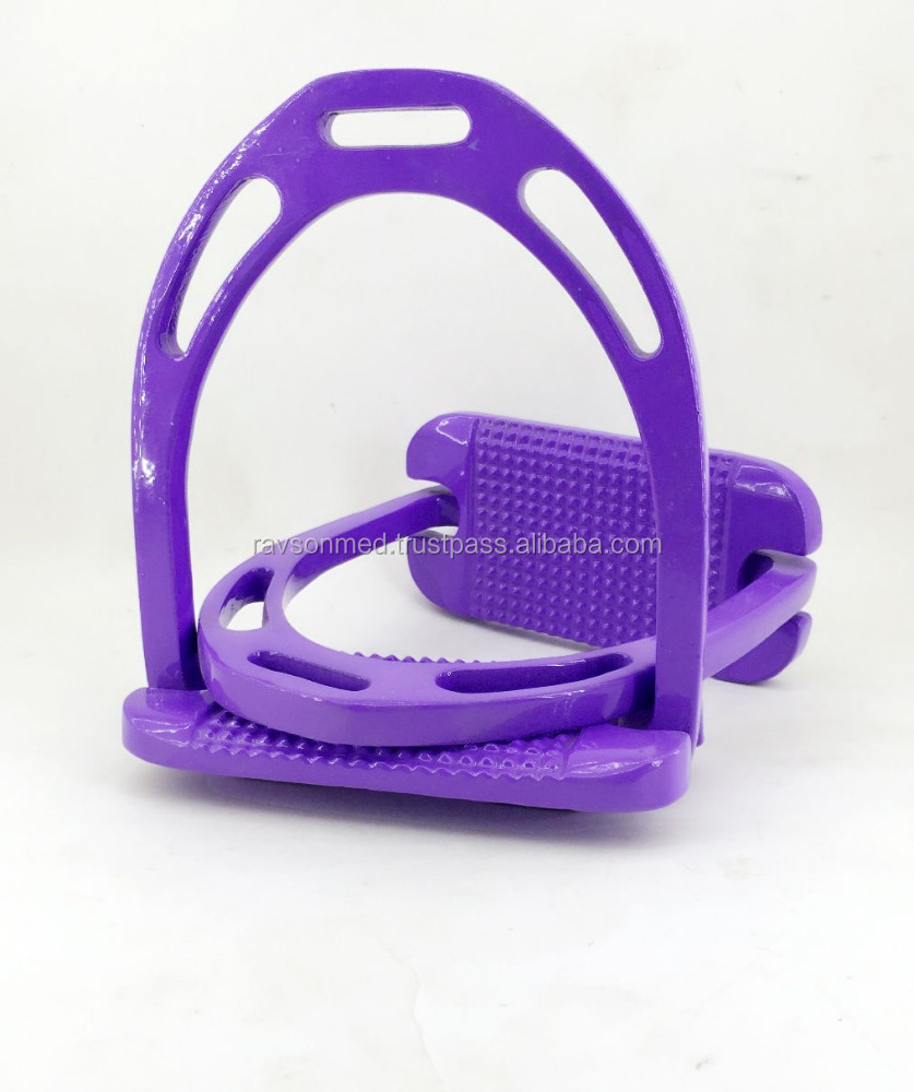 "HORSE RIDING EQUESTRIAN LIGHT WEIGHT 4.75"" PURPLE/ Horse stirrup"