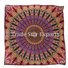 Cotton Indian Square Dog Bed Cushion Cover Ethnic Animal Bedding Home Decor Pillow Cover