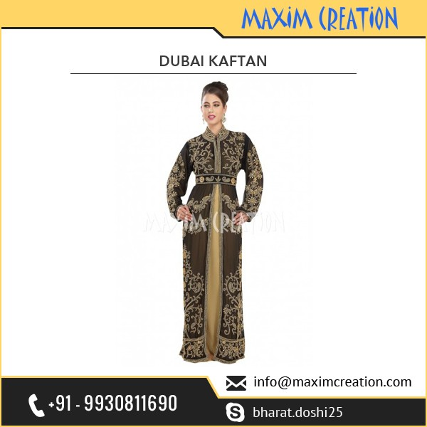 New Bridal Wear Designer Caftan With Exclusive Embroidery Design By Maxim Creation 6119