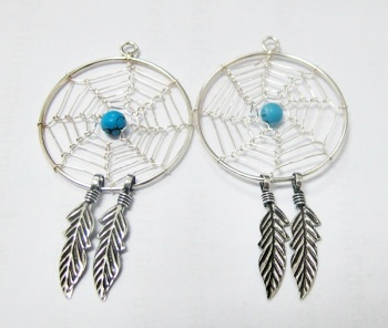 Silver 925 Dream Catcher Earring Design Wholesale Factory in Thailand