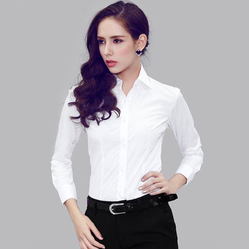 stylish female office shirts designed with buttons