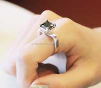 MINS 92.5 Silver ring, Big cubic, High quality, Korean fashion ring, Free size