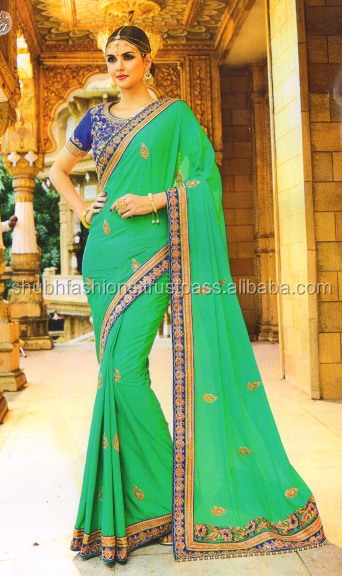 Embroidered Bollywood Georgette Sari