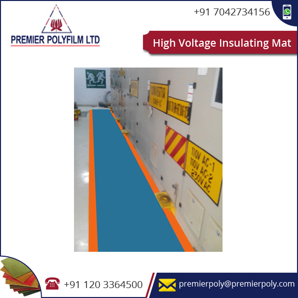 High Voltage Insulating Mat Electrical Equipment Including Heavy Foot Traffic