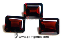 Mozambique Garnet Octagon Cut Faceted For Gold Necklace From Wholesaler