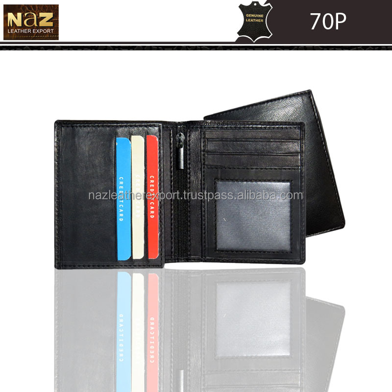 QIALINO New Products Men Genuine Leather Wallet Mobile Phone Zip Wallet