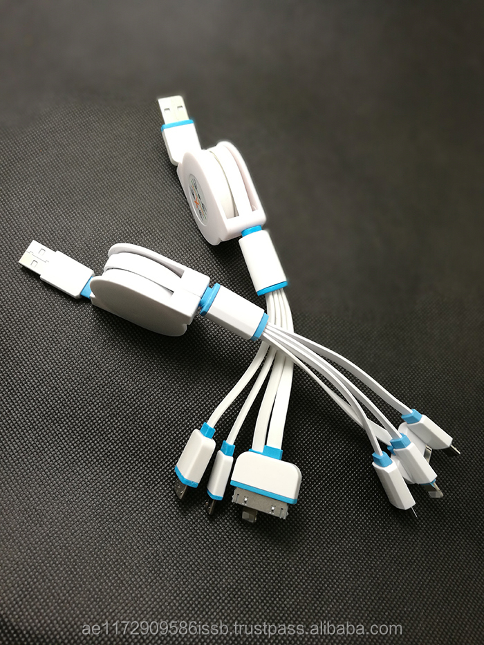Universal Portable USB 3 in 1 Charge Cable Multi Charger Cable for HTC Samsung Sony Xiaomi Huawei iphone 4 4s 5 5s 6