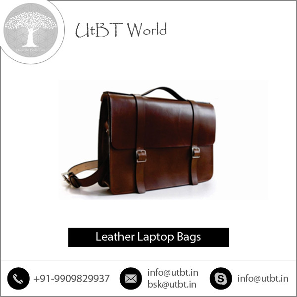 Precisely Design Standard Quality Leather Laptop Bag for Sale