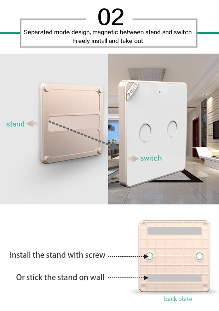 App Remote Control 24g Wireless Electric Smart Switch Easy Electrical Switches Wiring Diagram Installation Without Wire Connection
