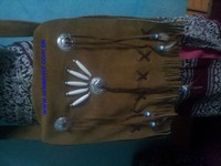 Native Western Style Soft Suede Leather Fringed and Beaded Handmade Shoulder Good Looking Bag, Cowgirl Bag, Fringe Bag