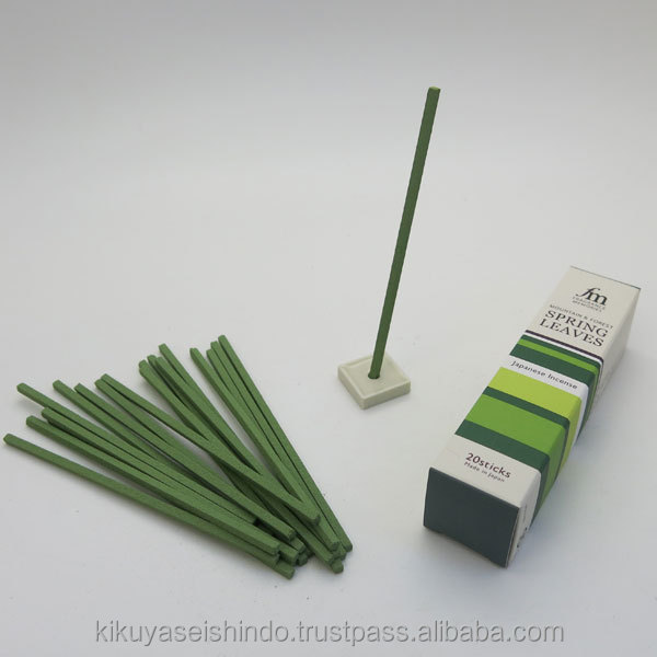 SPRING LEAVES agarbatti incense sticks from Japan, Nippon Kodo, Fragrance Memories, Luxury Item