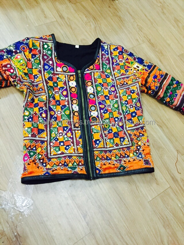 Vintage Banjara Leather Luxury Jackets for Lady