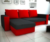 Corner sofa bed with storage ZEUS