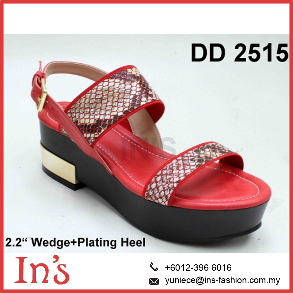 Red Ladies Wedges Shoes from Malaysia