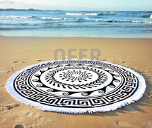 Round Beach Towels, Made in Turkey, direct from Manufacturer, The Greek Sun White Roundie