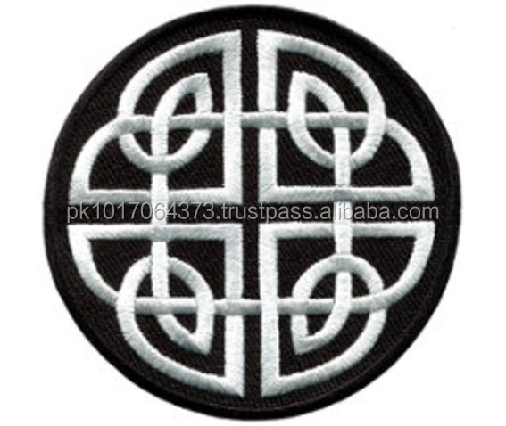 Round Custom Embroidery Patches Iron on Laser Cut Embroidery Patches machine embroidery badges
