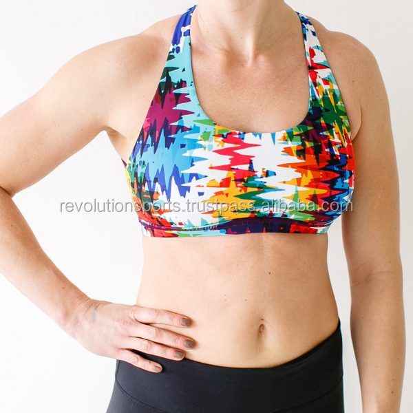 Whole Sale Stylish Sports Bra / Custom made Sports Bra With Latest Sublimation Designs Best Seller 2017