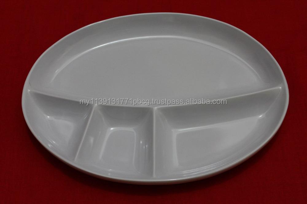 Malasia hecho de melamina 4 compartimentos ovalada plato for Platos con compartimentos