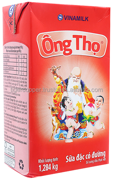 VINAMILK ONG THO RED LABEL SWEETENED CONDENSED MILK PAPER BOX 1284G