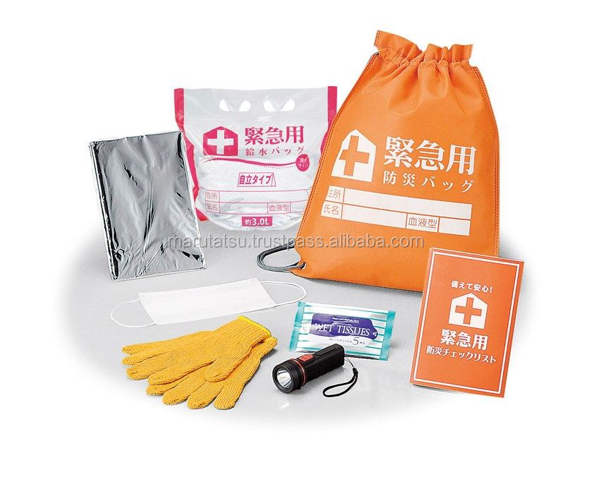 Reliable emergency kit with carry bag for disaster preparation