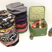 Promotional handmade 2017 luxury Japanese cotton fabric cosmetic bag with zipper close