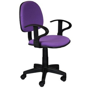 Office armrest comfortable fabric kid swivel chair with PP base and adjustable height function Carmen 6012 in 18 colors