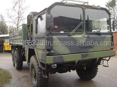 USED TRUCKS - MAN 7 TON 6X6 EXARMY STAKE BODY TRUCK (LHD 8955)