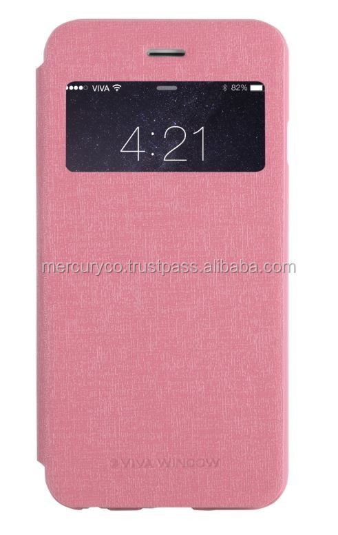 Mercury Viva Window pu leather flip case (Pink)
