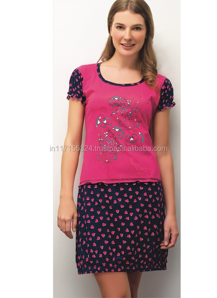 Cotton night dress for women multi colors available-fashion hot nighty wear wholesale women new sexy nighty design