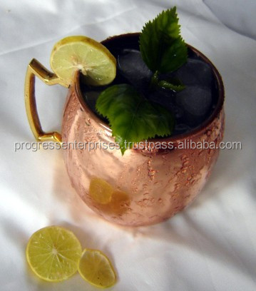 1 Basic High Quality Pure Copper Metal Moscow Mule Copper Mug for Sale in America FDA Approved Lacquered MANUFACTURED IN INDIA